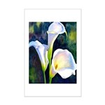 calla lilly art deco flower print Poster Print