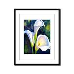 calla lilly art deco flower print Framed Panel Pri