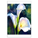 calla lilly art deco flower print Poster
