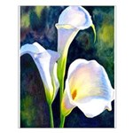 calla lilly art deco flower print Small Poster