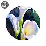 "calla lilly art deco flower print 3.5"" Button (10"