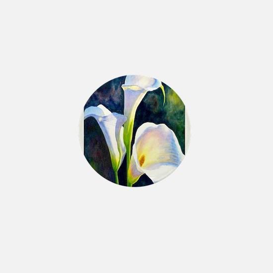calla lilly art deco flower print Mini Button
