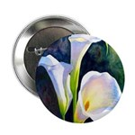 "calla lilly art deco flower print 2.25"" Button (10"