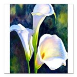 calla lilly art deco flower print Square Car Magne