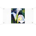 calla lilly art deco flower print Banner