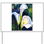calla lilly art deco flower print Yard Sign