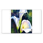 calla lilly art deco flower print Sticker