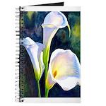 calla lilly art deco flower print Journal