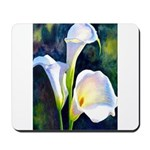 calla lilly art deco flower print Mousepad