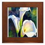 calla lilly art deco flower print Framed Tile