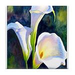 calla lilly art deco flower print Tile Coaster