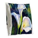 calla lilly art deco flower print Burlap Throw Pil