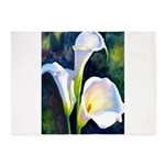 calla lilly art deco flower print 5'x7'Area Rug