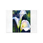 calla lilly art deco flower print 5'x7'Area Rug