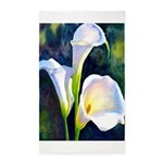 calla lilly art deco flower print Area Rug