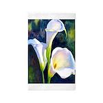 calla lilly art deco flower print Area Rug