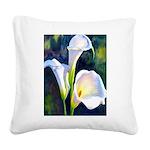 calla lilly art deco flower print Square Canvas Pi