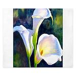 calla lilly art deco flower print King Duvet