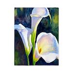 calla lilly art deco flower print Twin Duvet