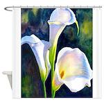 calla lilly art deco flower print Shower Curtain