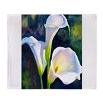 calla lilly art deco flower print Throw Blanket