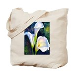 calla lilly art deco flower print Tote Bag