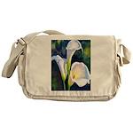 calla lilly art deco flower print Messenger Bag