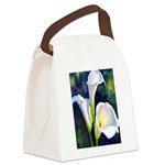 calla lilly art deco flower print Canvas Lunch Bag