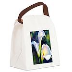 calla lilly art deco flower print Canvas Lunch Bag