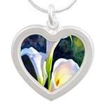calla lilly art deco flower print Necklaces