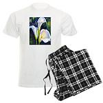 calla lilly art deco flower print pajamas
