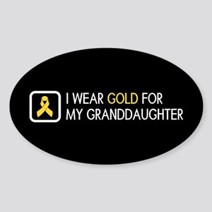 Childhood Cancer: Gold For My Grand Sticker (Oval)