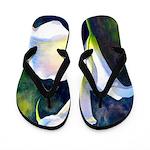 calla lilly art deco flower print Flip Flops
