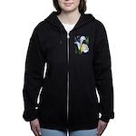 calla lilly art deco flower print Women's Zip Hood