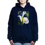 calla lilly art deco flower print Women's Hooded S