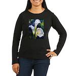 calla lilly art deco flower print Long Sleeve T-Sh