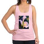 calla lilly art deco flower print Racerback Tank T