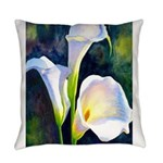 calla lilly art deco flower print Everyday Pillow