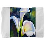 calla lilly art deco flower print Pillow Sham