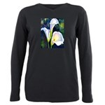 calla lilly art deco flower print Plus Size Long S