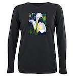 calla lilly art deco flower print Plus Size Long S