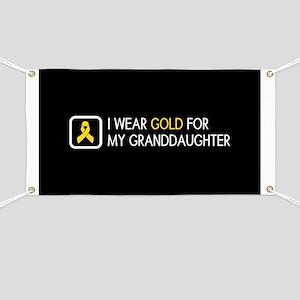 Childhood Cancer: Gold For My Granddaughter Banner