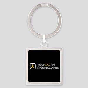 Childhood Cancer: Gold For My Gran Square Keychain