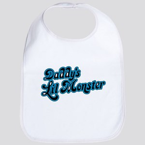 Inspiration Text - Daddy's Little Monster Baby Bib