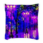 After The Rain Woven Throw Pillow