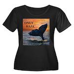ONLY BAJA Women's Plus Size Scoop Neck Dark T-Shir