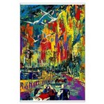 Grand Prix Auto Race Painting Print Poster