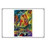 Grand Prix Auto Race Painting Print Banner