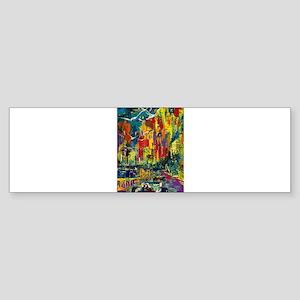 Grand Prix Auto Race Painting Print Bumper Sticker