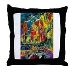Grand Prix Auto Race Painting Print Throw Pillow